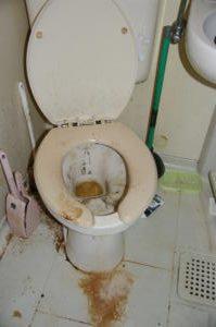 杉っ子倶楽部 福祉クリーンサービス トイレ清掃実施前